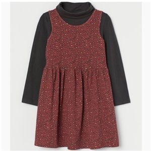 H&M Girls 2 Piece Leopard Outfit